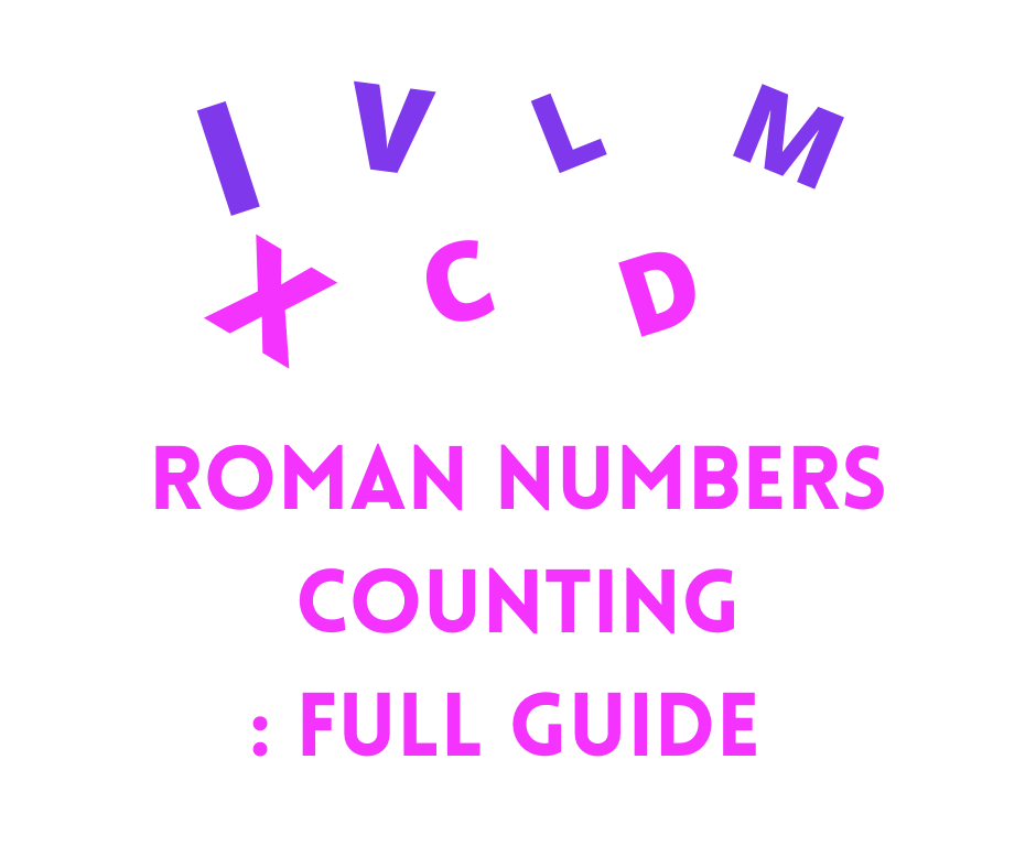 Roman numbers counting