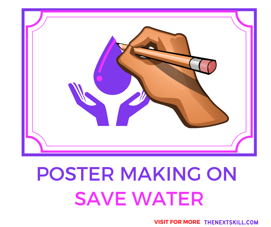 Poster on save water- Banner