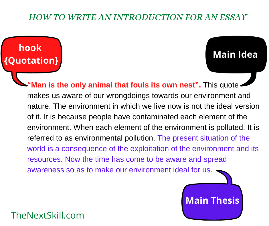 How to write a good introduction of an essay