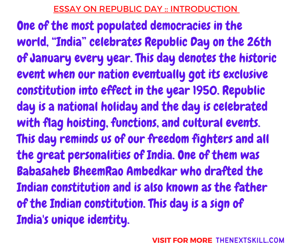 Essay on Republic Day | Introduction