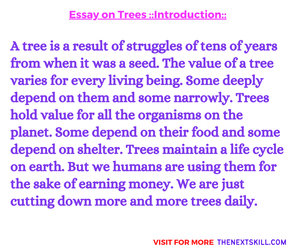Essay on Trees | Introduction