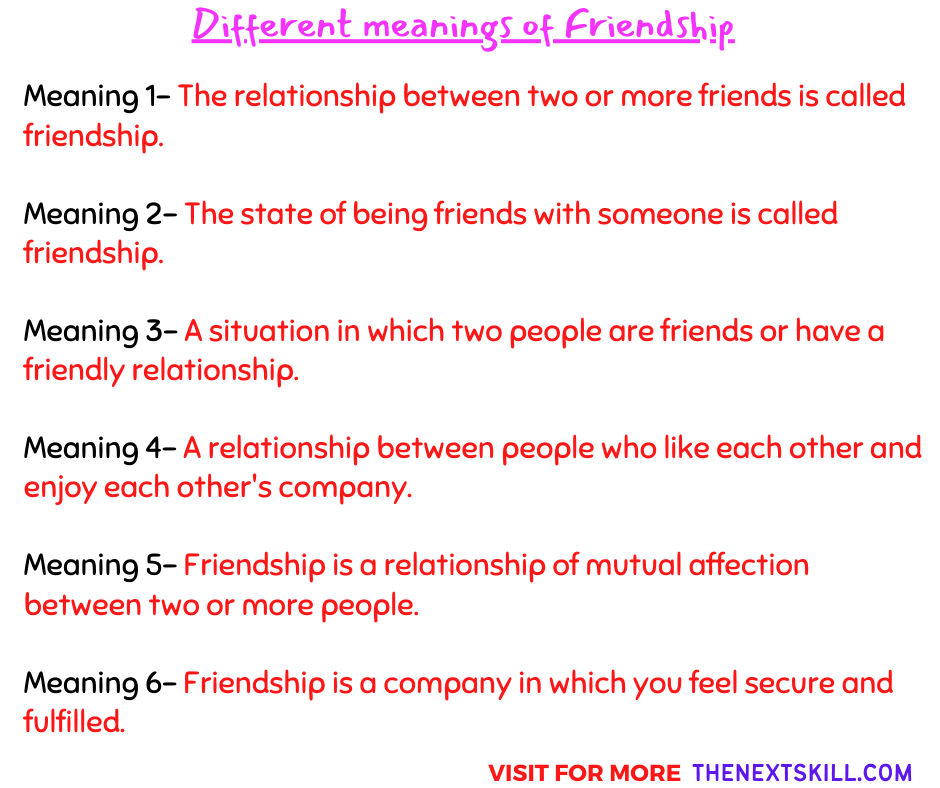 The Meaning of Friendship {top 6}